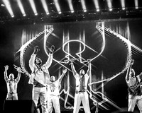 Earth, Wind and Fire. Glastonbury West Holts Stage. 2016. B/W.