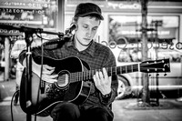 Cai Burns. Kagoule. Acoustic Set. Record Store Day Nottingham. The Music Exchange stage. April 2015. B/W.