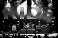 RIDE. London O2 Brixton Academy. 1st set. October 2015. B/W.