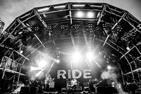 Ride. Bestival Main Stage. 2016. B/W.