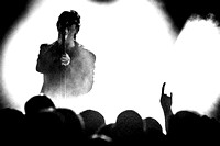 Echo and the Bunnymen. Nottingham Rock City. December 2014. B/W.