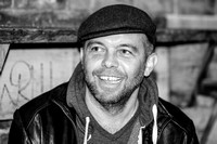 Mark Gardener. DiS interview. Nottingham Bodega Social. November 2014. B/W.