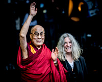 The Dalai Lama / Patti Smith. The Pyramid Stage. Glastonbury 2015.