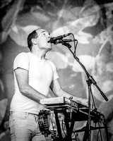 Caribou. West Holts Stage. Glastonbury 2015. B/W.