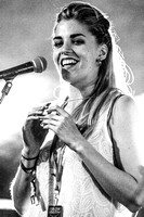 London Grammar. Glastonbury 2013. B/W.