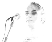 London Grammar. Nottingham No Tomorrow Festival. June 2014. B/W.