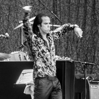 Nick Cave. Glastonbury 2013. B/W.